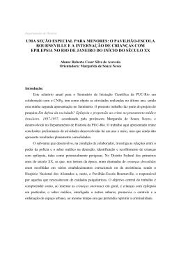Relatório - Departamento de História da PUC-RIO