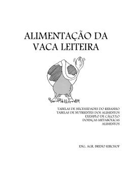ALIMENTAÇÃO DA VACA LEITEIRA