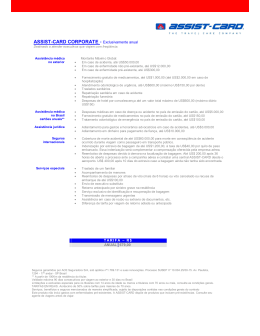 ASSIST-CARD CORPORATE - Exclusivamente anual