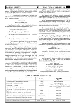D. O. PODER EXECUTIVO TERÇA-FEIRA, 30 - DEZEMBRO