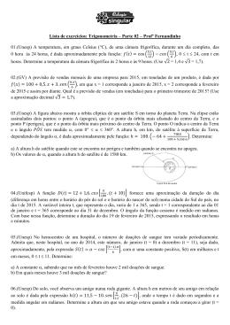 Lista de exercícios: Trigonometria – Parte 02 – Profº Fernandinho 01