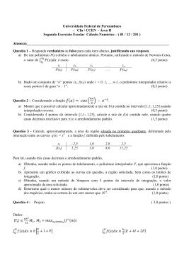 2EE e gabarito - Universidade Federal de Pernambuco