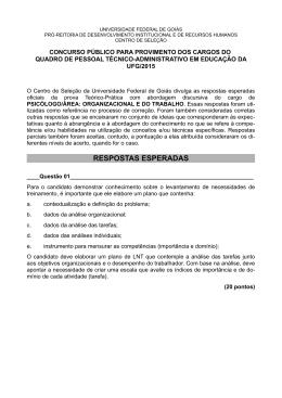 psicólogo/ área: organizacional e do trabalho - Vestibular
