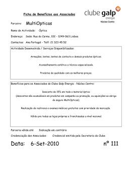 Protocolo 111 - Clube Galp Energia
