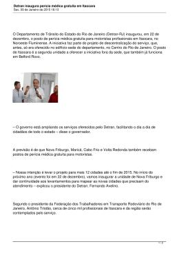 Detran inaugura perícia médica gratuita em