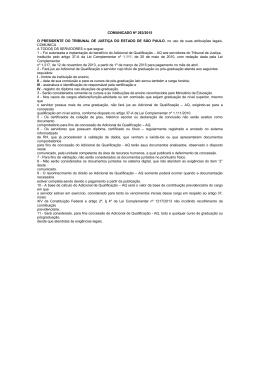 COMUNICADO Nº 263/2015 O PRESIDENTE DO TRIBUNAL DE