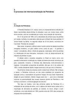 2 O processo de internacionalização da Petrobras