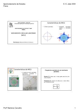 4 Movimento Circular Uniforme