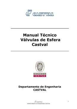 Manual Técnico Válvulas de Esfera Castval