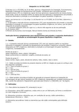 Despacho nº 24 261/2007 25 Maio 2007 • Sector Industrial pdf O