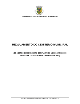 REGULAMENTO DO CEMITÉRIO MUNICIPAL - cm