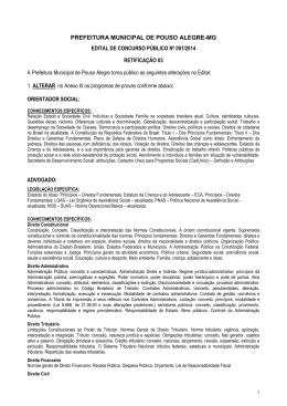 Retificacao 03 Pouso Alegre Concurso Edital
