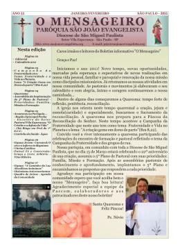 PSJEjornal2011_01JanFev - Paróquia São João Evangelista