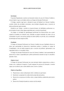 REGULAMENTO DE ESTÁGIO Introdução O presente Regulamento