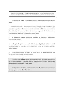 Regulamento Estágio Supervisionado