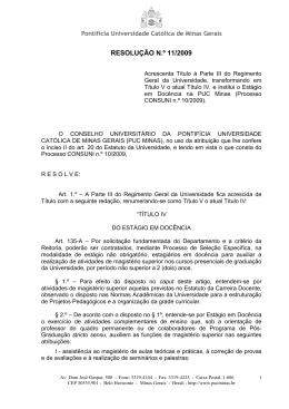 Resolução CONSUNI nº 11/2009