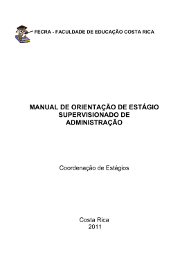 Manual estagio supervisionado 2011