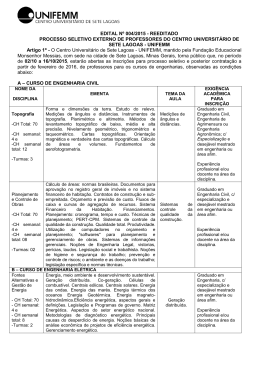 EDITAL Nº 004/2015 - REEDITADO PROCESSO SELETIVO