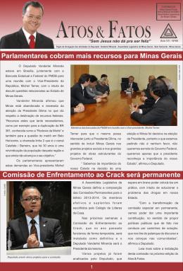 Parlamentares cobram mais recursos para Minas Gerais Comissão