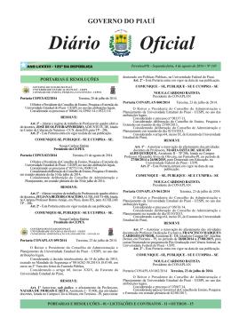 Pág. 001 - Diario Oficial - Diário Oficial