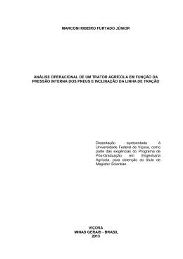 análise operacional de um trator agrícola em função - Locus