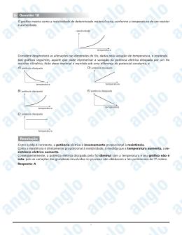 Page 1 1 O gráfico mostra como a resistividade de determinado