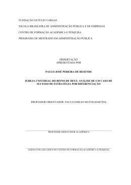 PauloResende - Sistema de Bibliotecas FGV
