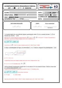 app1 2º médio GABARITO