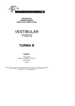 exame 1 turma b - Centro Universitário FEI