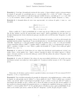 Lista 6 de Probabilidade I com Gabarito