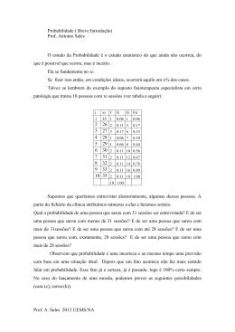 Prof. A. Sales 2013 UEMS/NA Probabilidade