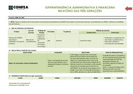 superintendência administrativa e financeira relatório das