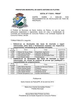GABINETE DA PREFEITA MUNICIPAL