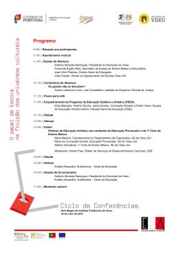 Programa - Direção-Geral da Educação