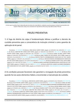 PRISÃO PREVENTIVA - Superior Tribunal de Justiça