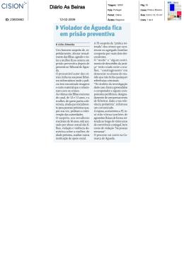 Violador de Águeda fica em prisão preventiva