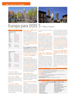 """Europa para DOIS 5 """"Todos a Europa"""""""