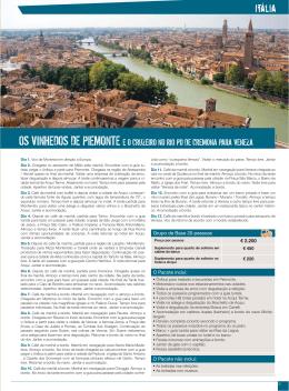 Os Vinhedos de Piemonte e o Cruzeiro no Rio Po de Cremona para