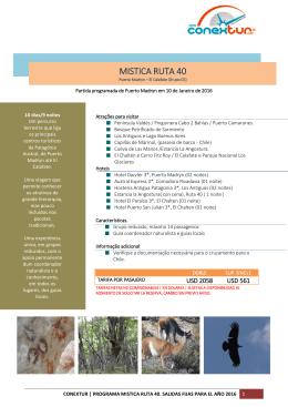 MISTICA RUTA 40