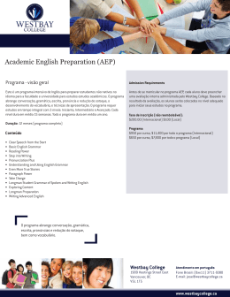 Academic English Preparation (AEP)