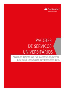pacotes de serviços universitários