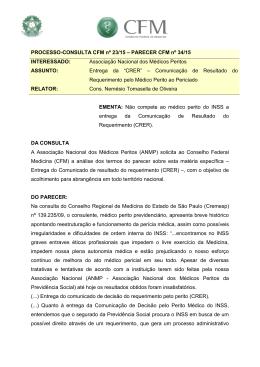 PARECER CFM nº 34/15 - Conselho Federal de Medicina