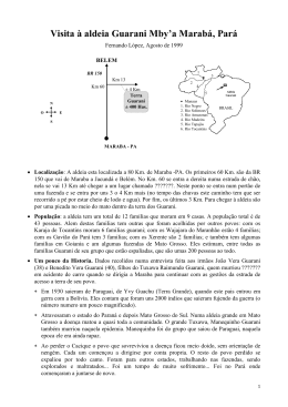 1999-08-27 Relatoria dos Guarani de Maraba