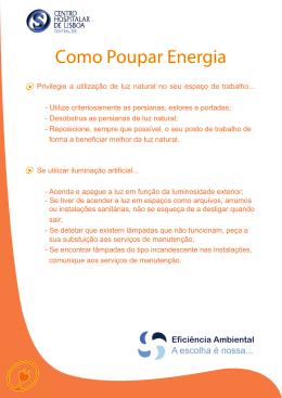 Como poupar energia