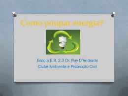 Como poupar energia?