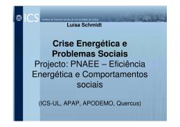 Crise energética e problemas sociais