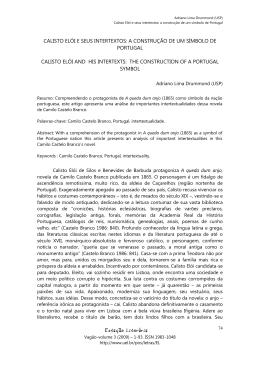 Calisto Elói e seus intertextos: a construção de um símbolo de