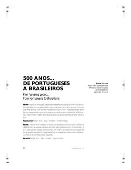 500 ANOS... DE PORTUGUESES A BRASILEIROS Five hundred
