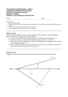 Geometria Descritiva Segunda Avaliaç