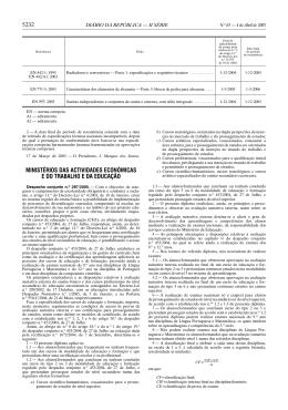 5232 MINISTÉRIOS DAS ACTIVIDADES ECONÓMICAS E